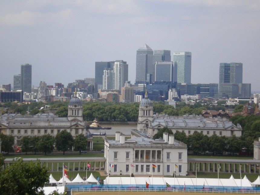 view of London from the Greenwich park