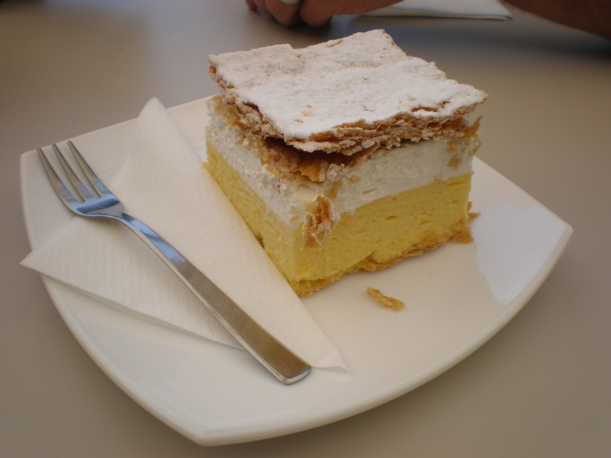 traditional Bled Cream Cake-yummy!