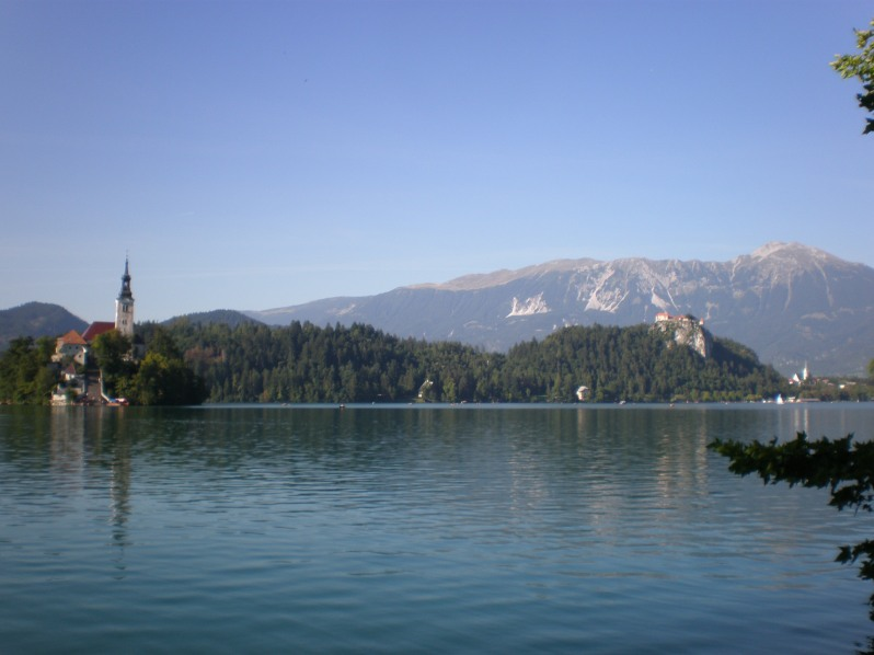 Bled Lake with the island and the Bled castle