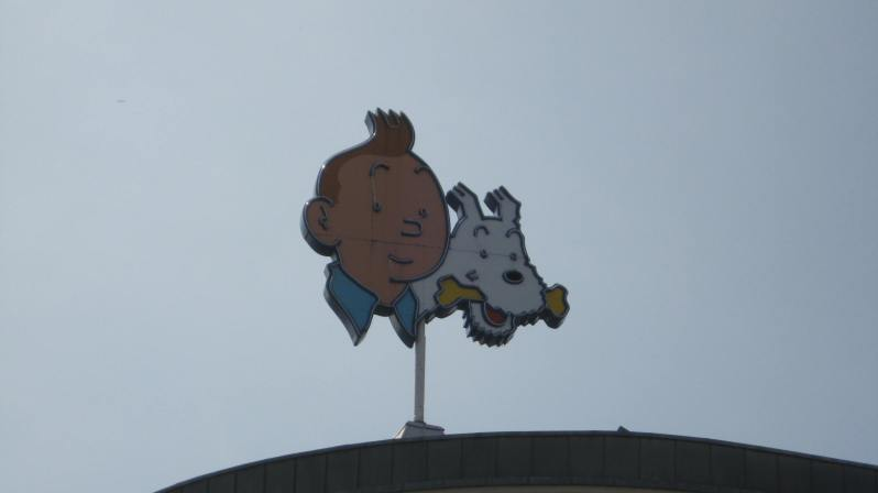 the famous Tintin from a Belgian comic book