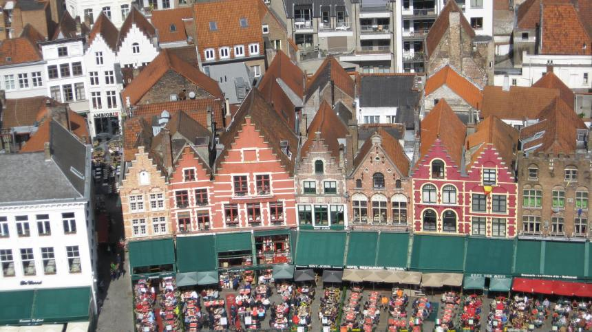 the view of the Markt from the Belfry