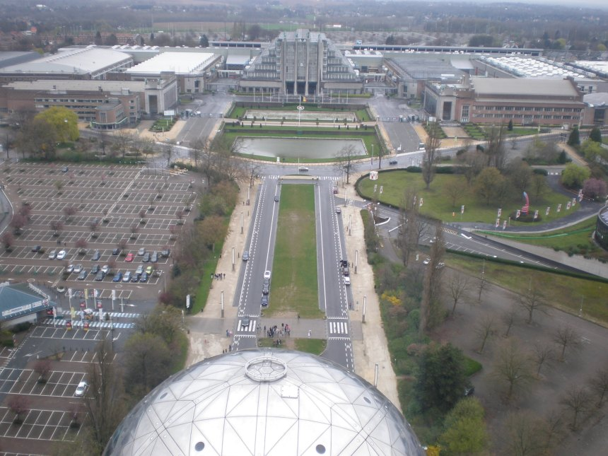the view from the Atomium