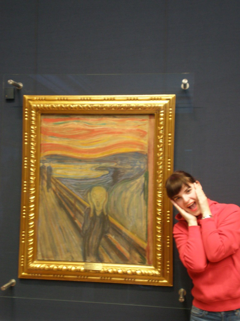 the Scream by Edvard Munch and myself:))