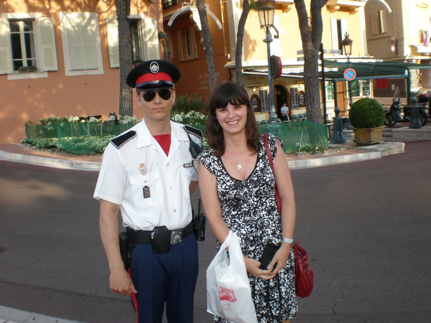 with Monaco policeman, 2011