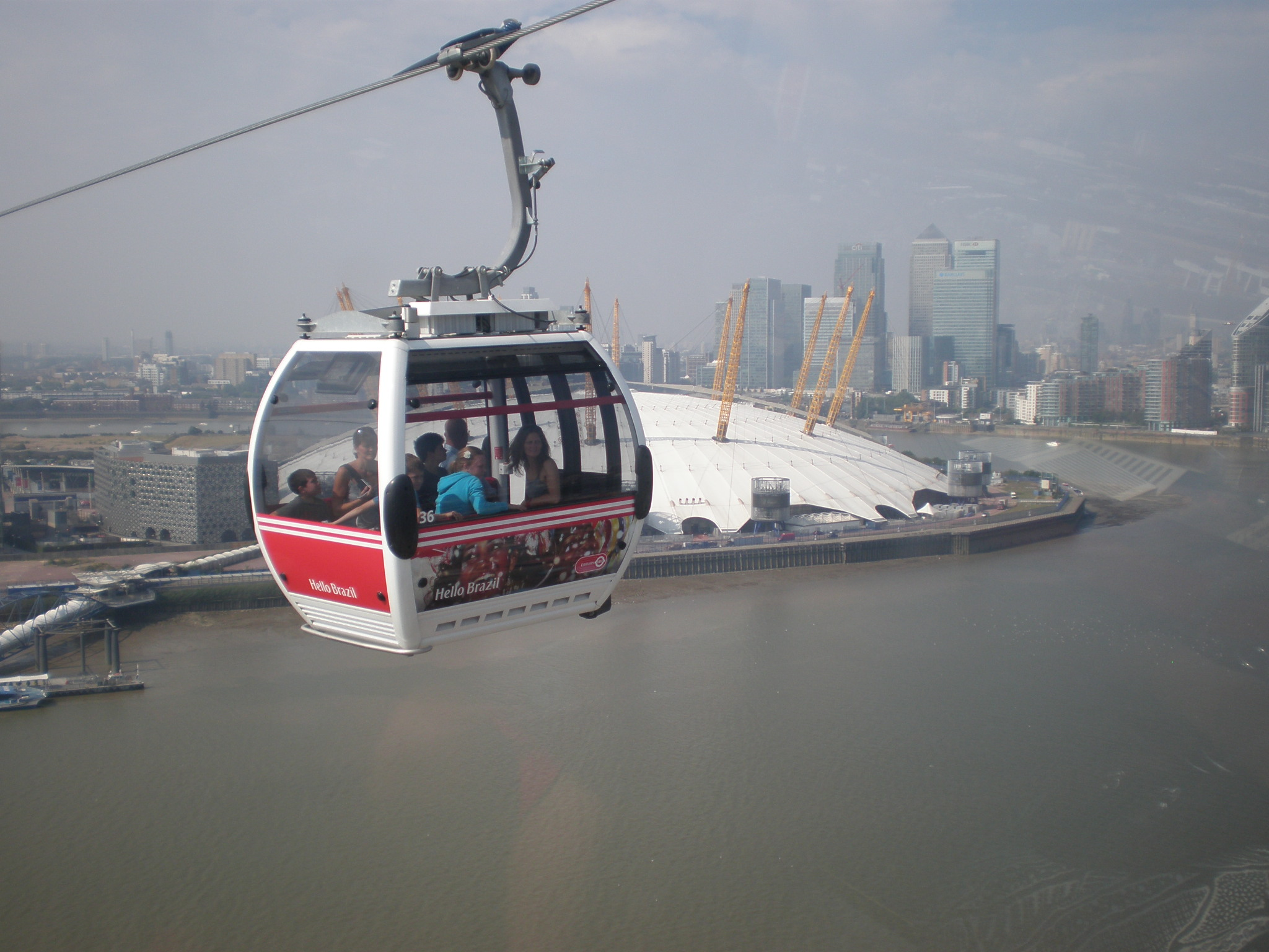 With my best friend on the cable car