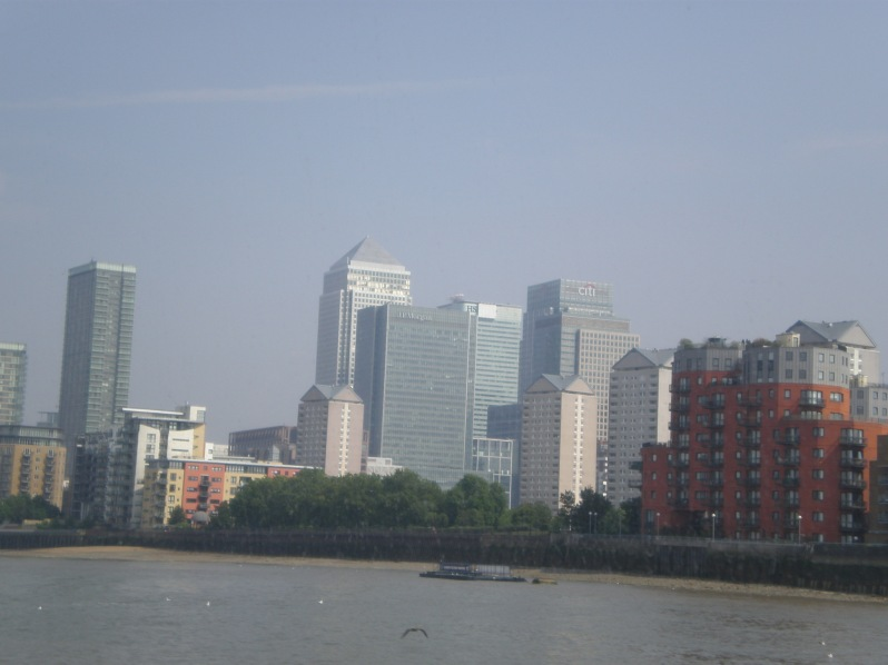 Canary Wharf from the boat