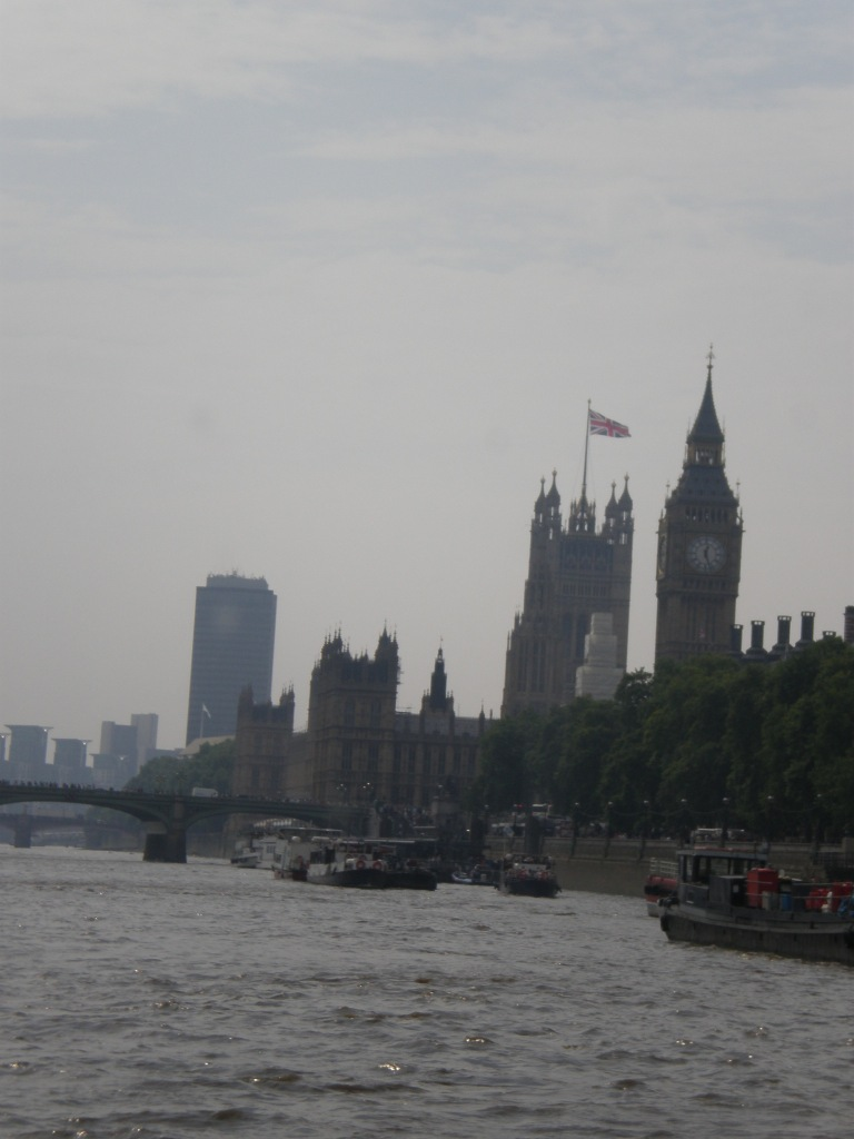 end of the boat ride-Big Ben
