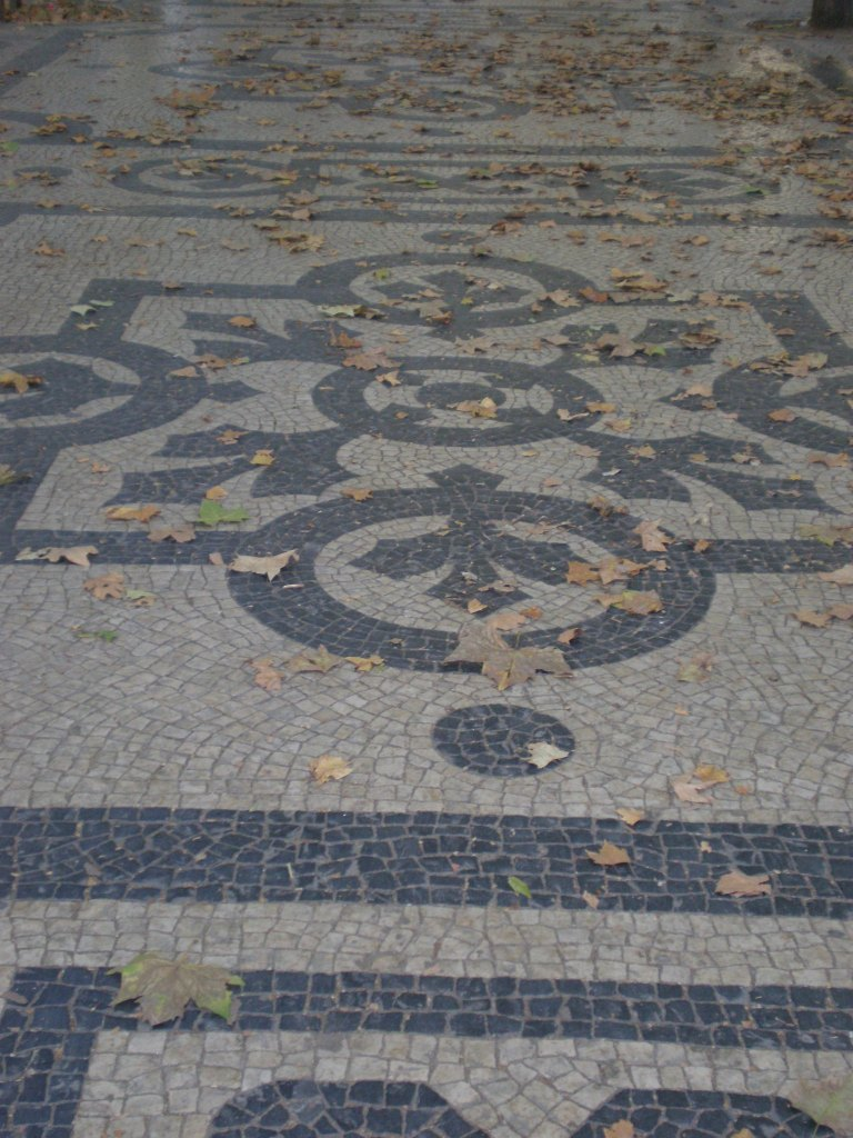 beautiful pavement of Avenida da Liberdade