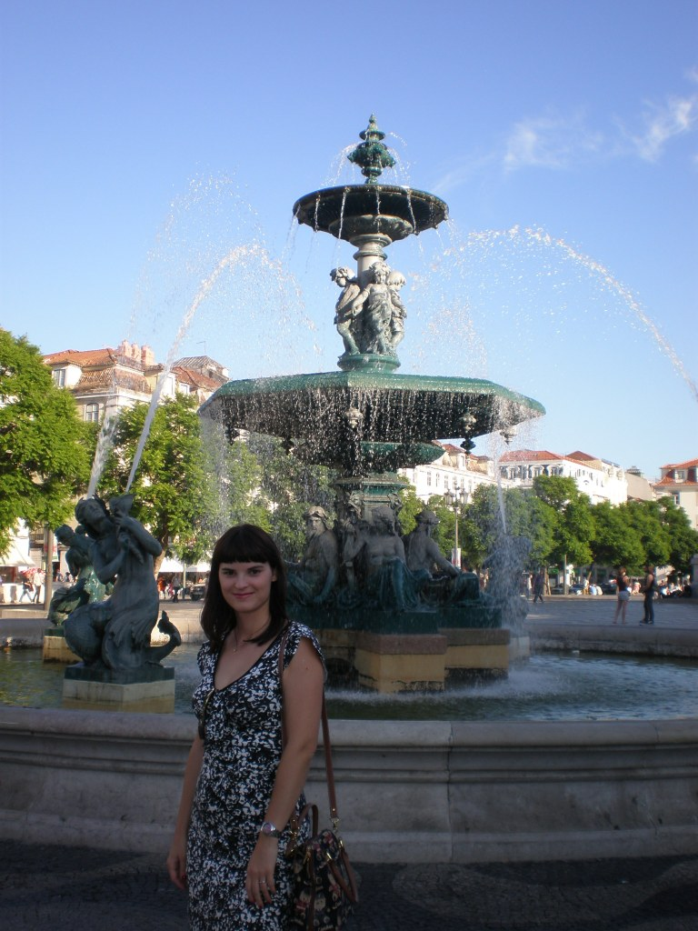 at Rossio square