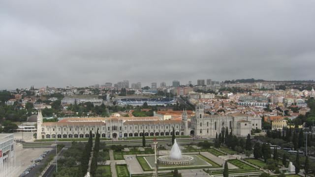 the view from the top of the Monument to the Discoveries