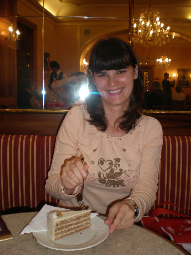 eating cake in Bad Ischl
