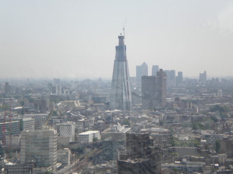 now you can see the Shard being built-2011