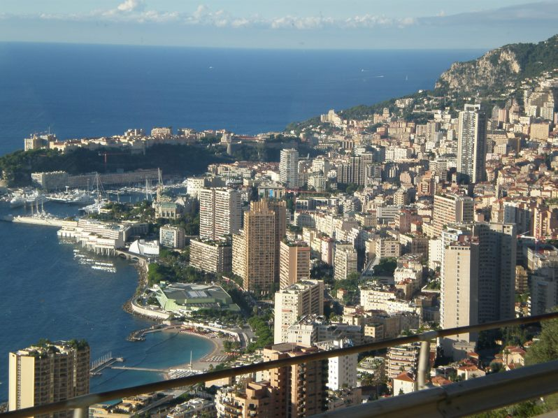 the view of Monaco (if you're coming from Italy)