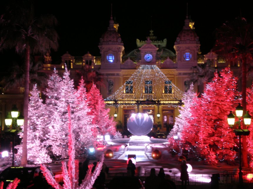 Monte-Carlo Casino in winter time