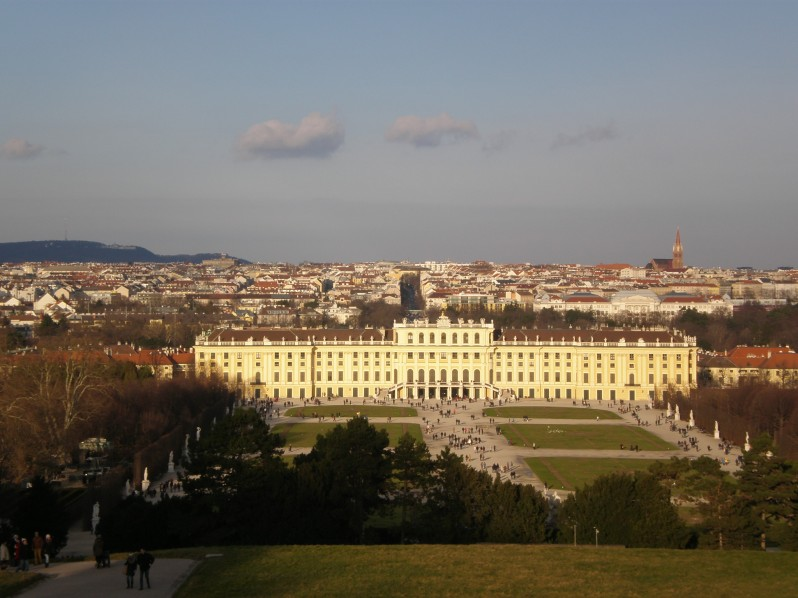 the view of Schonbrunn palace