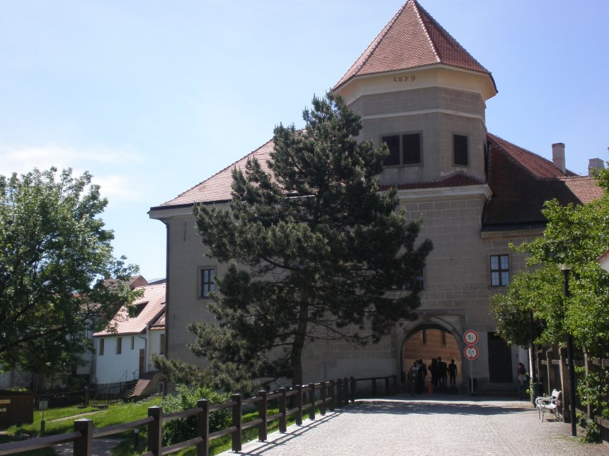 the entrance to historic Telč