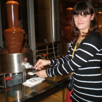 Visiting a chocolate factory
