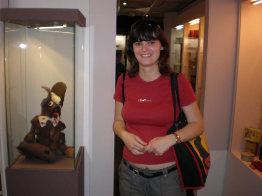 inside Prague's chocolate museum, June 2010