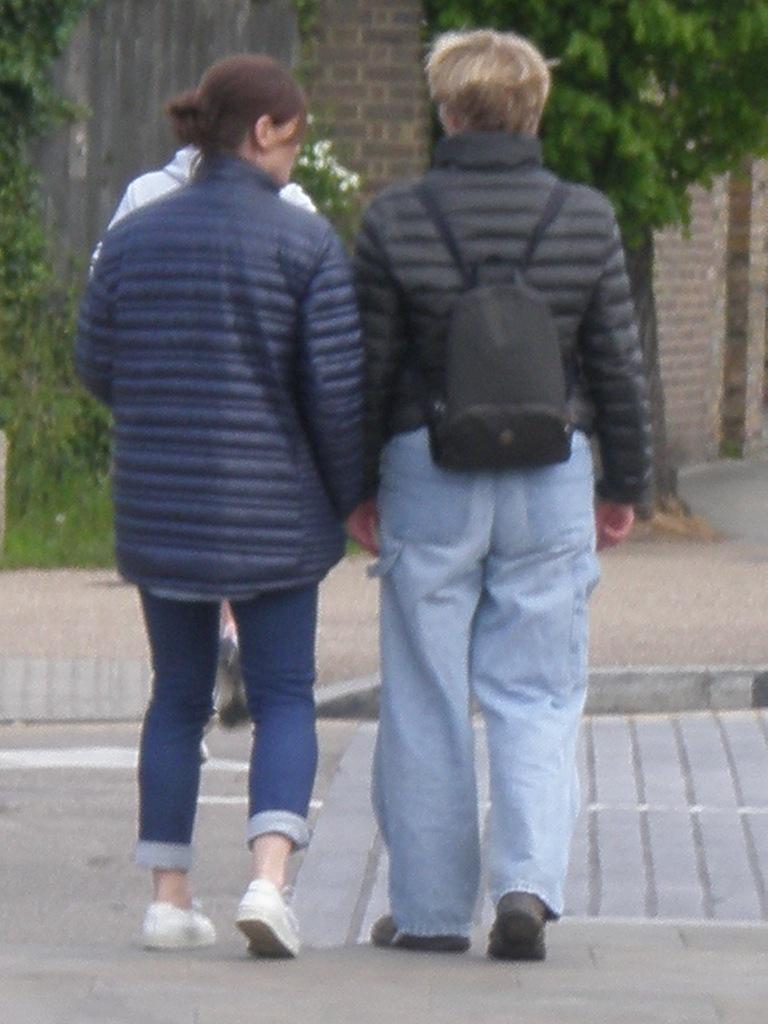 Emma Thompson walking around Hampstead