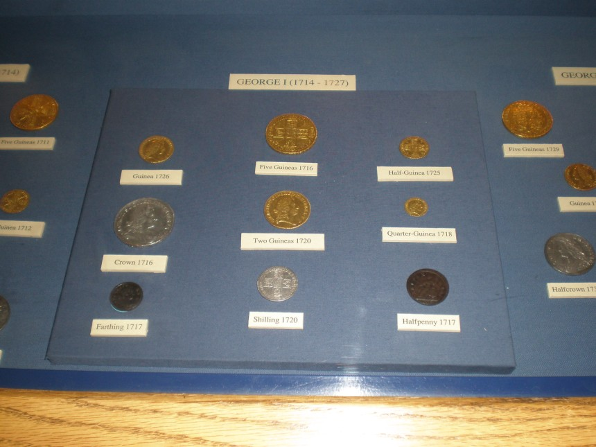 coins in the Bank of England Museum