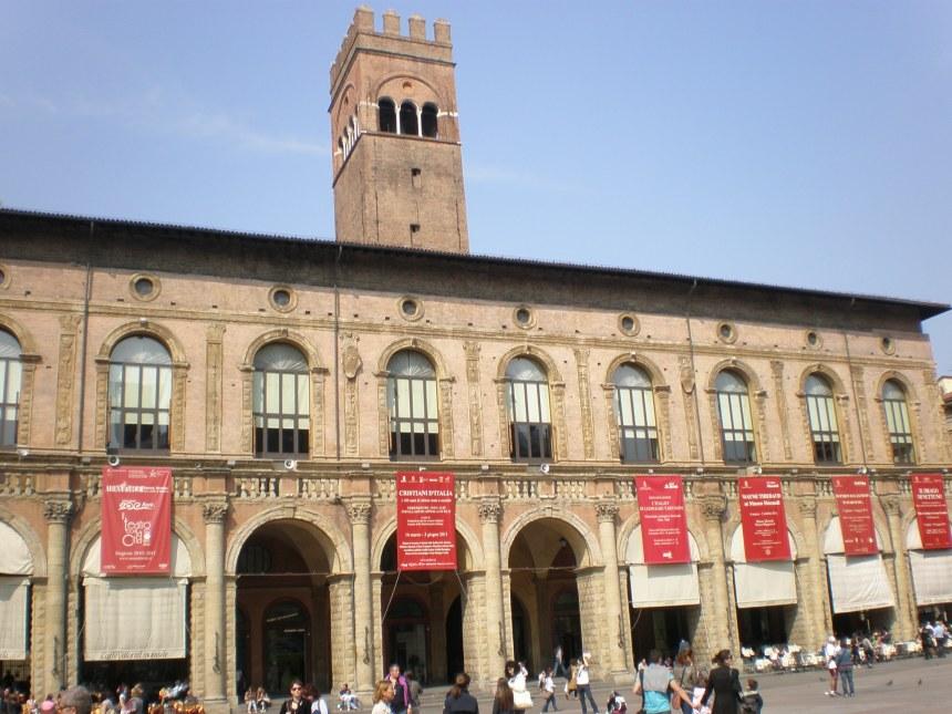 at Piazza Maggiore