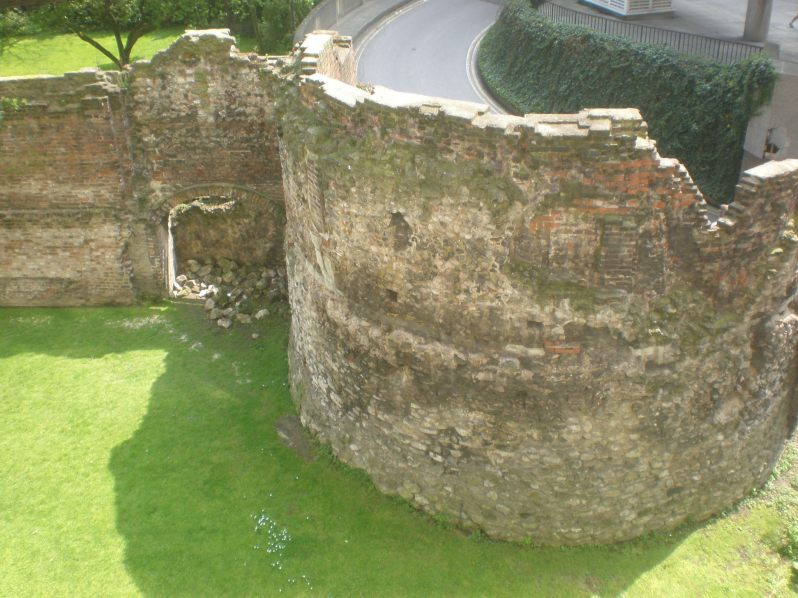 remains of old city wall