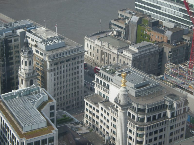 view of the Monument from Sky Garden