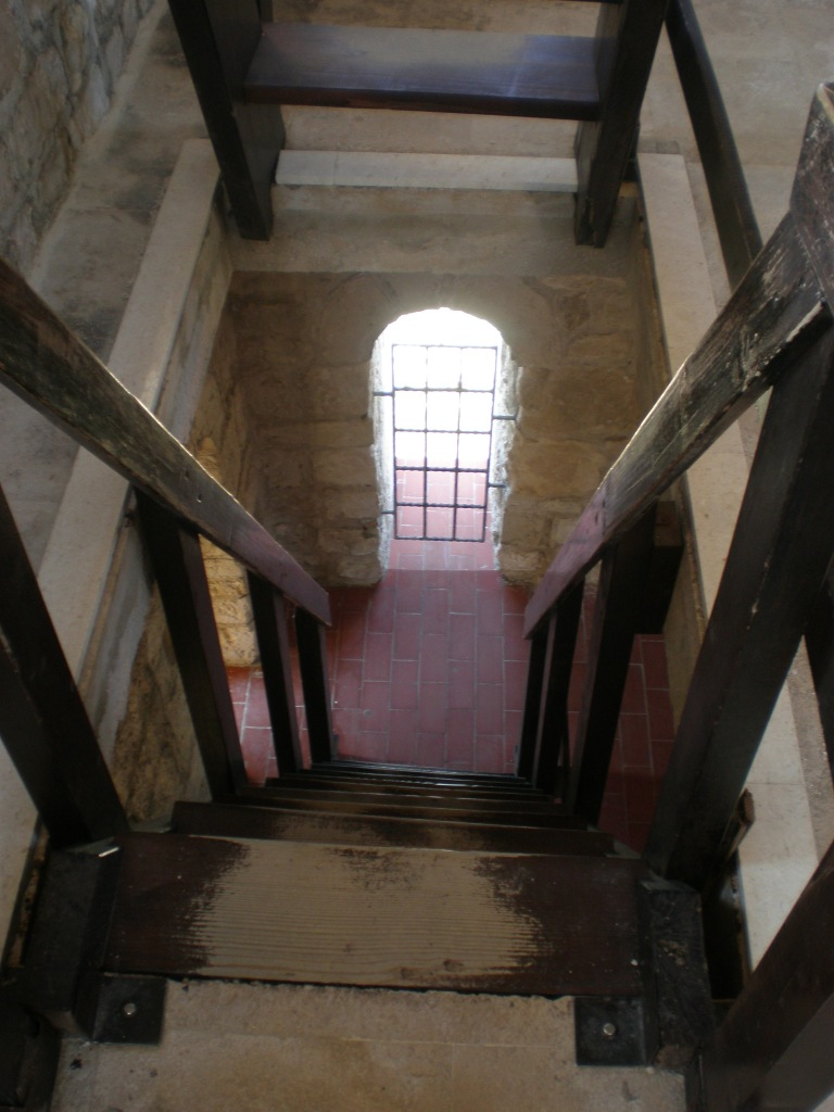 climbing the cathedral's tower