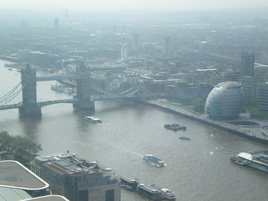 view of Tower Bridge from Sky Garden