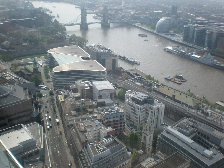 Tower of London & Tower Bridge seen from Sky garden