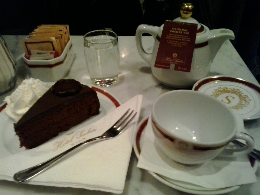 Sacher Cake at Cafe Sacher, Vienna