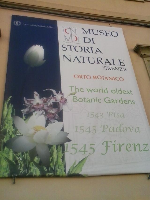 Botanical Garden in Florence