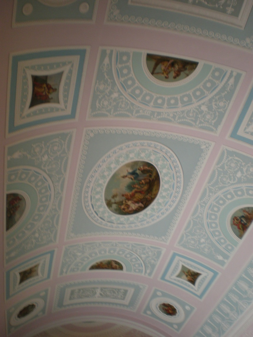 beautiful pastel coloured ceiling