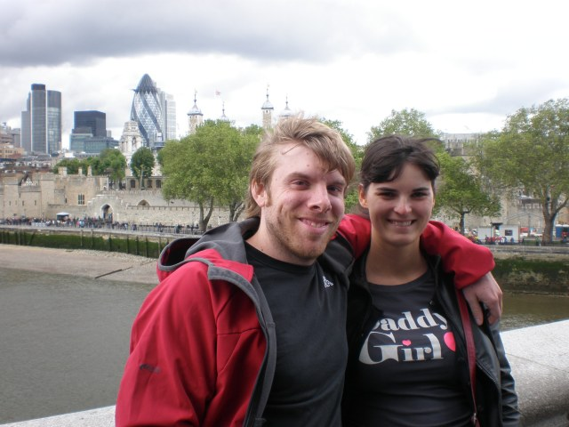 at the Tower Bridge with my husband, 2012