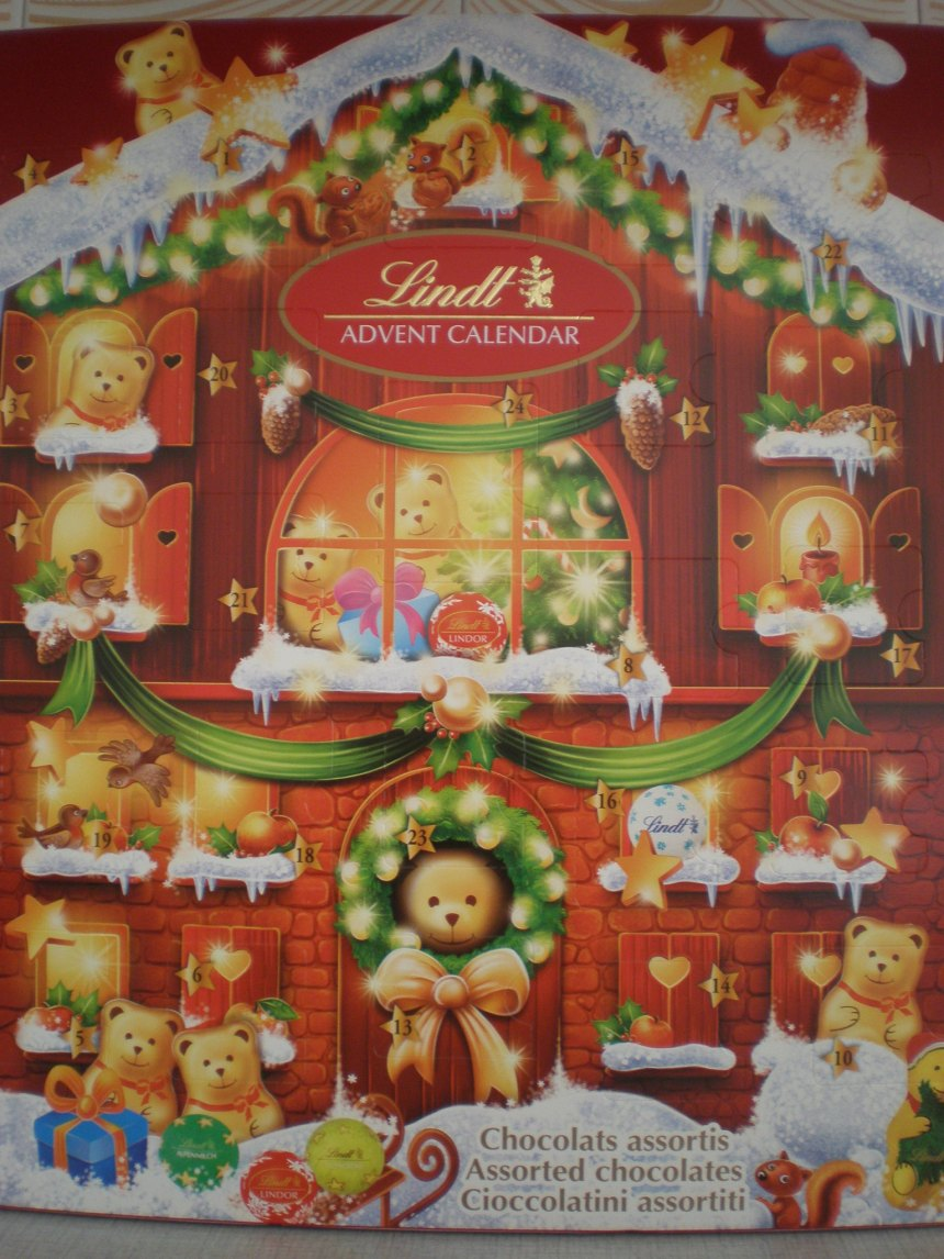 chocolate Advent calendar by Lindt