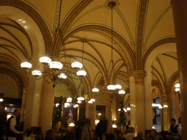 inside Cafe Central, Vienna