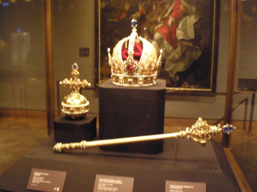 crown of emperor Rudolf II in Imperial Treasury Vienna