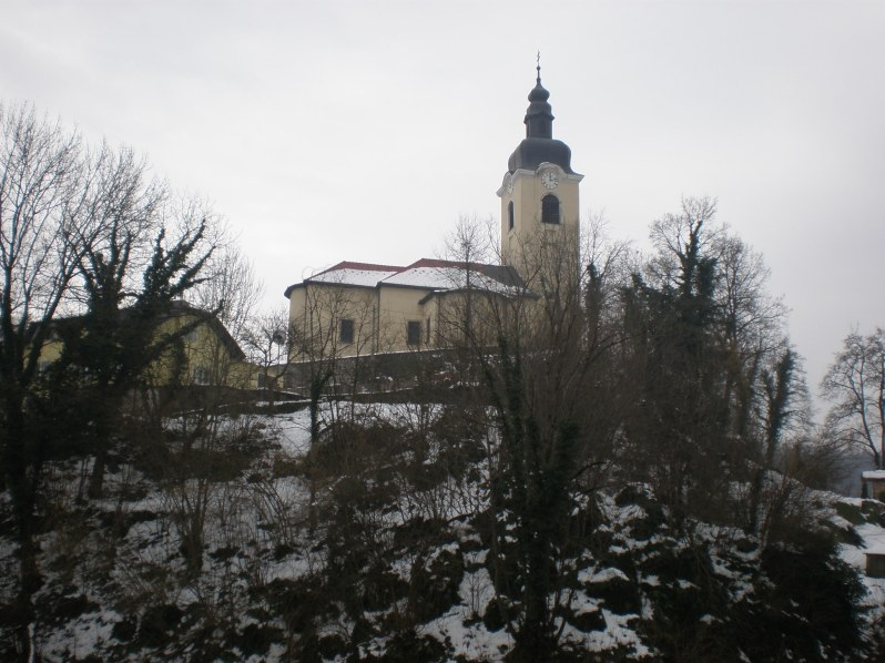 the church on the hill across the castle