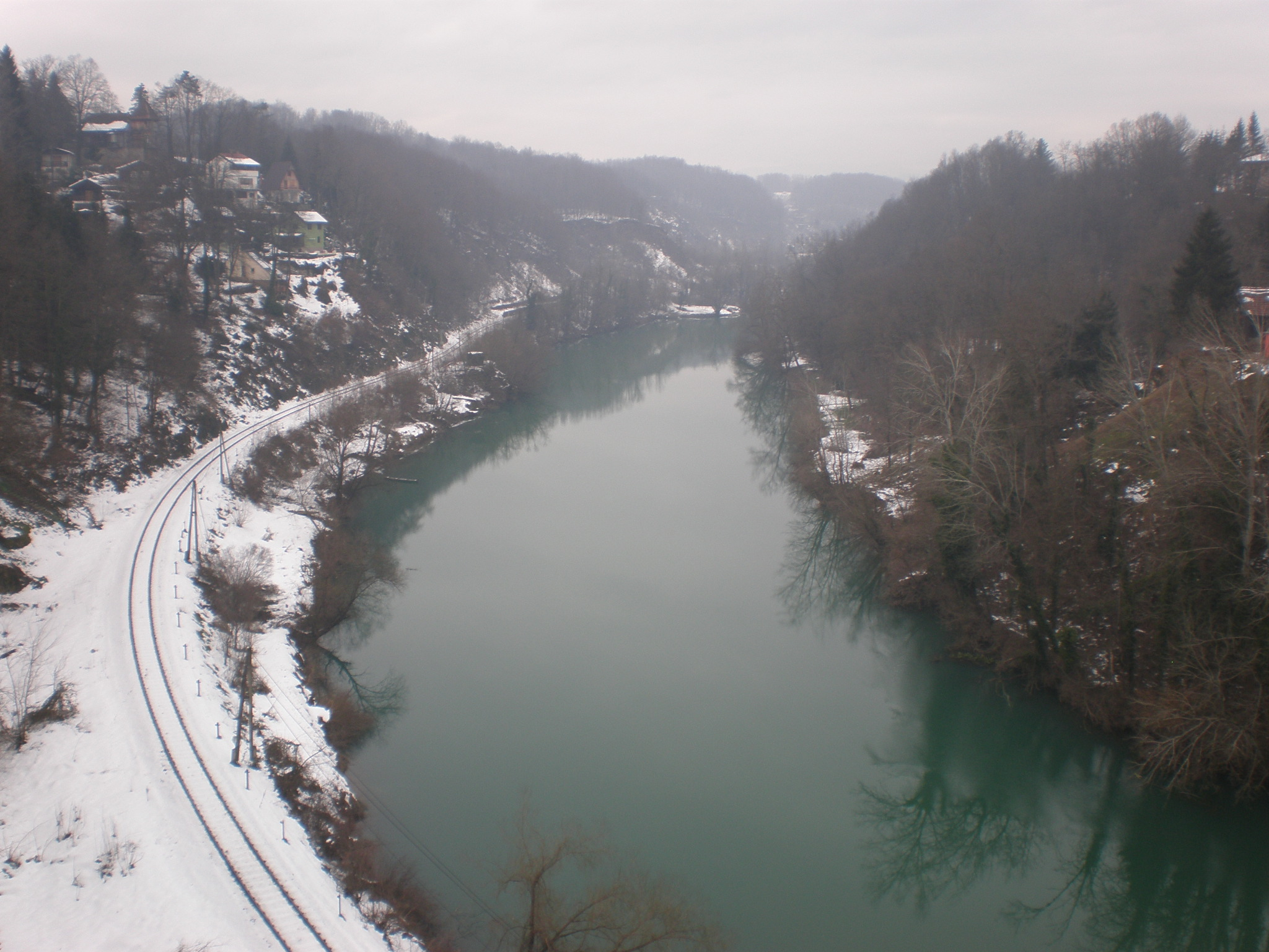 the view of River Kupa from the castle