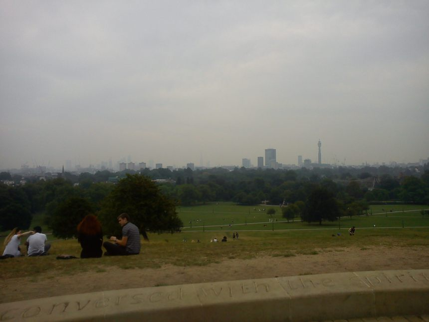 view of London from the Primrose Hill