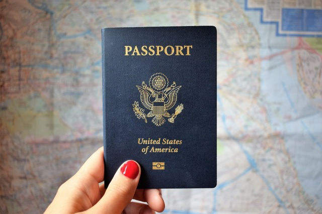 Travel International Passport Travelling World Map