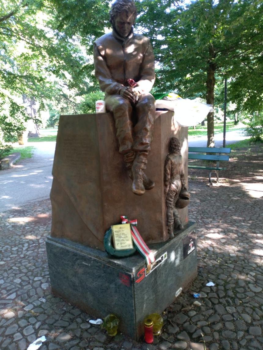 Ayrton Senna monument in Imola