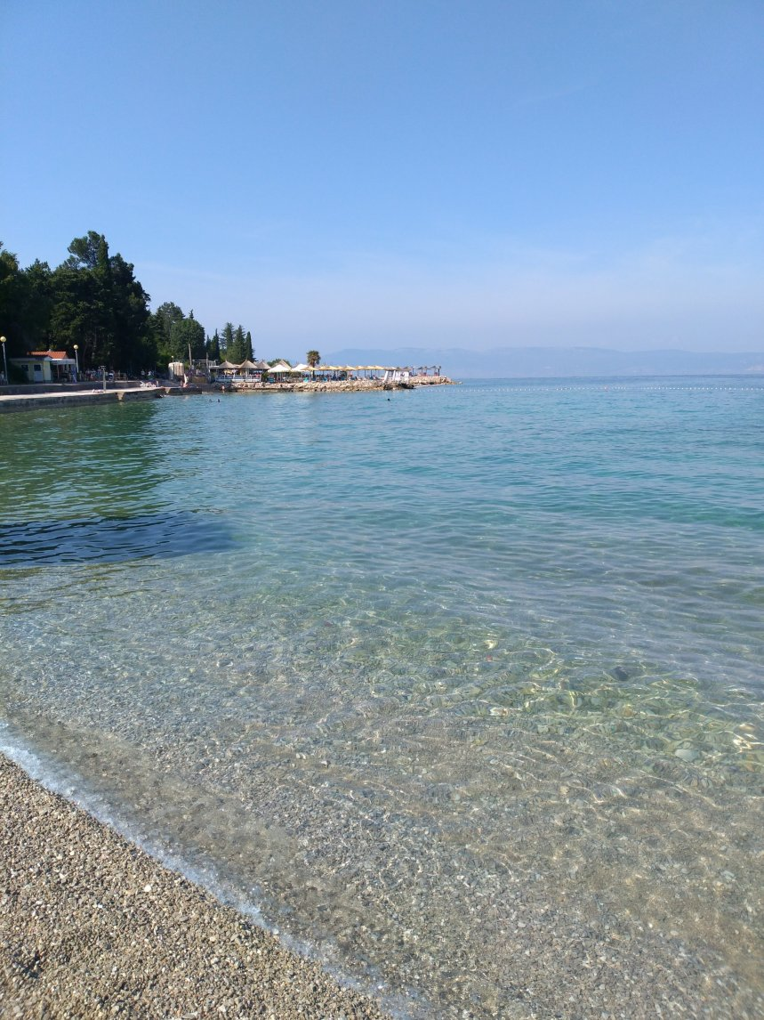 beach on island Krk, Croatia
