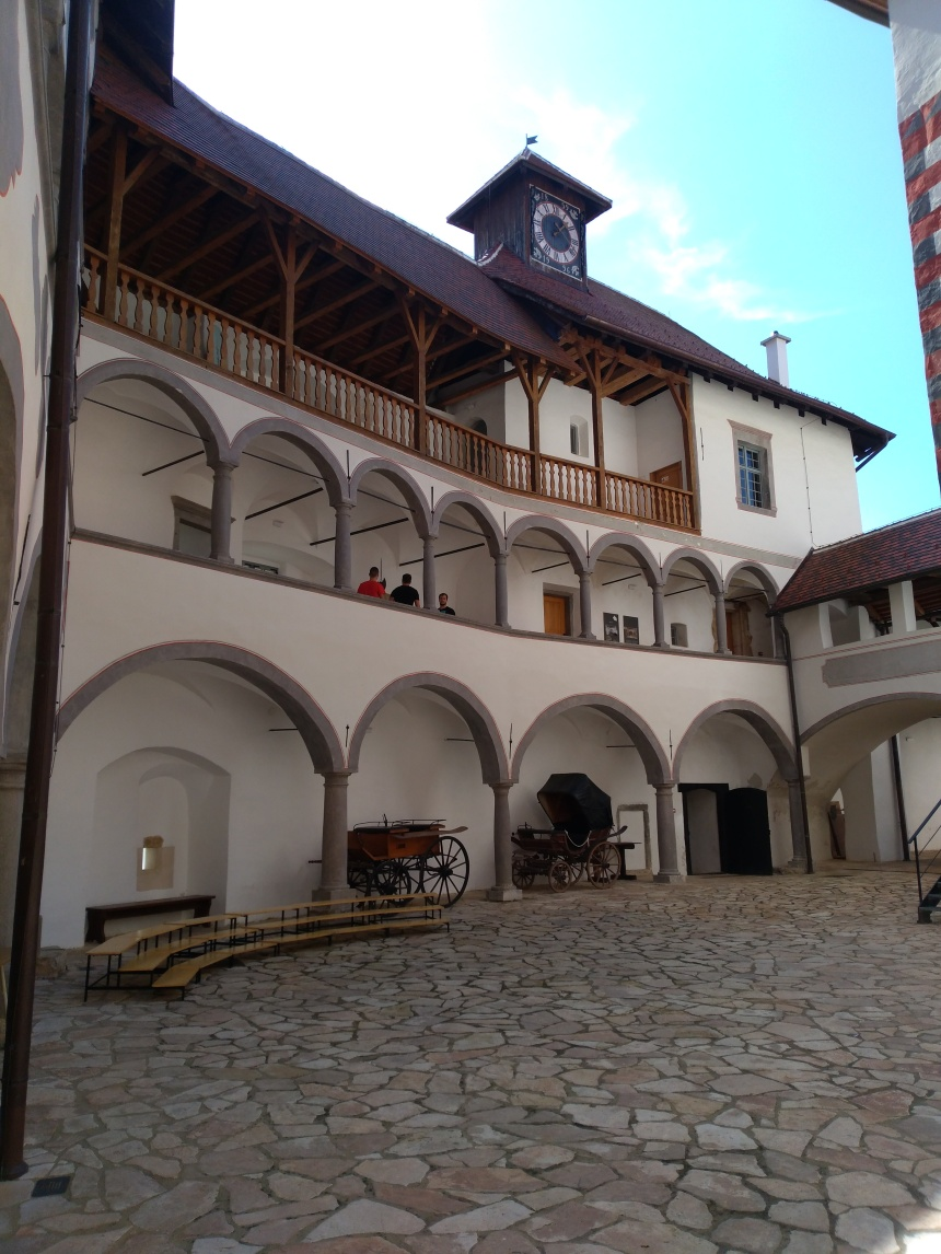 courtyard of Veliki Tabor Castle