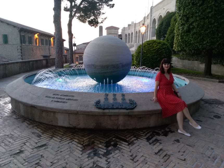 a night walk in San Marino