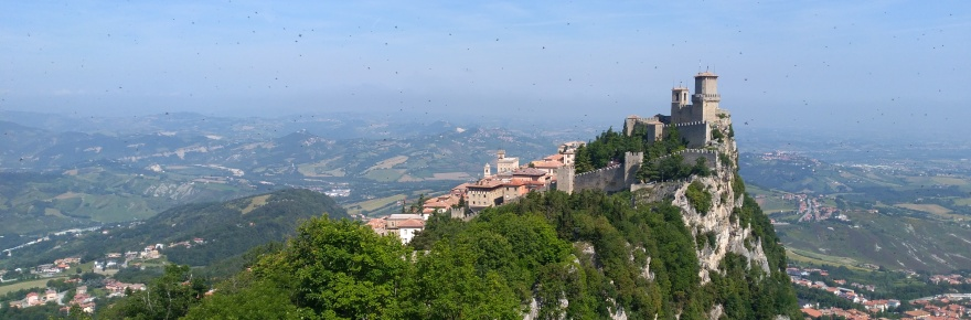 the view of the First tower from the Second Tower, San Marino
