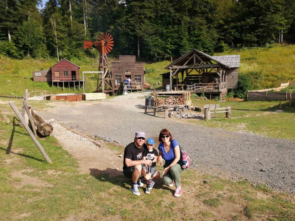Family day out: Cowboy village Roswell in Croatia