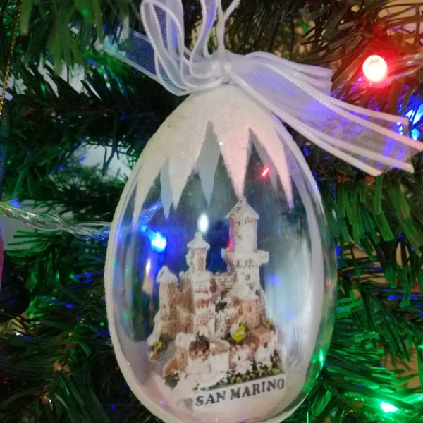 My Christmas Tree Travel Ornaments: San Marino